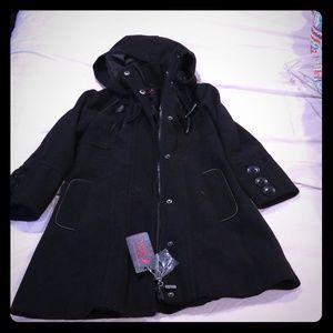 NWT Girl's toddler long pea coat